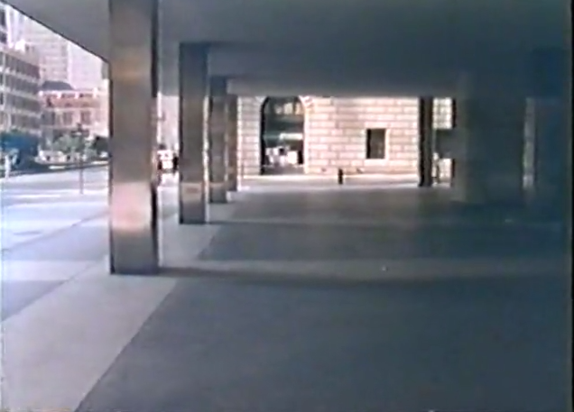 Under-used plaza pictured in William H. Whyte's film The Social Life of Small Urban Spaces.